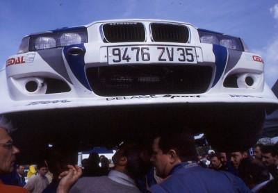 bmw 318 compact f2000,bmw 2002,bernard leuvrey,rallye de lohéac,rallye du pays vannetais