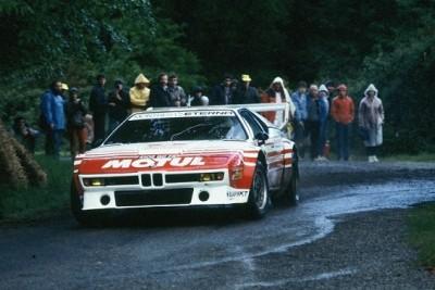 bmw m1,lancia 037,bernard béguin,jean-claude andruet,rallye,rallye de la baule,1984,vintage