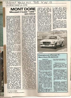 courses de côtes,course de côte du mont-dore – chambon-sur-lac,1977,norev,échappement,jimmy mieusset,golf gti