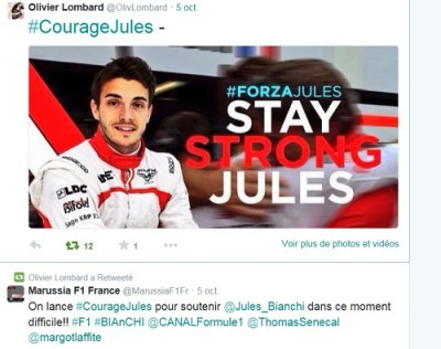 jules bianchi,#forzajules,#couragejules,#keepfightingjules,f1,suzuka,marussia